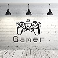 Gamer Wall Decal Vinyl Sticker Decals Game Controllers Gaming Video Game Boy Room Decor Bedroom Men Gift Nursery Dorm Gamer Gifts Decor ZX11