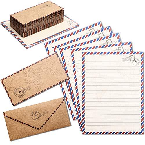Vintage Stationery Paper Set and Envelopes in