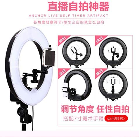 self portrait with bracket phone clip remote control carrying case Peaceip US Ring light 13in external 45W-5500K dimmable LED ring lighting kit for YouTube