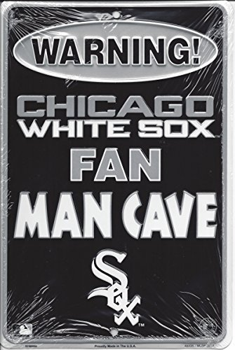 Rico Industries Chicago White Sox Man Cave Metal Parking Sign