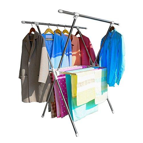 Baoyouni Folding Clothes Drying Rack X Shaped Laundry Hanger