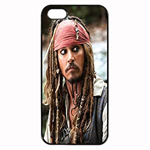 Captain Jack Sparrow - The Pirates of the Caribbean Pattern Image Case Cover Hard Plastic Case Iphone 4s / Iphone for Iphone 4 4s