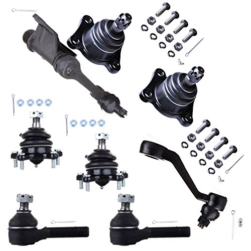 (SCITOO 8pcs Suspension Kit 2 Lower 2 Upper Ball joint 2 Outer Tie Rod 1 Pittman Arm 1 Idler Arm fit Toyota 4Runner Pickup 4WD T100 1986-1995 K9519 K9482)