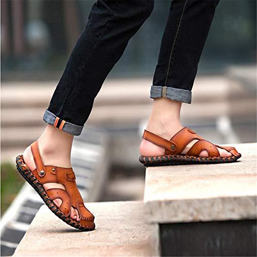 Sandalias Hombres Wangcui Playa Marrón 0 De Marrón Transpirable EU Los Verano 27 1 39 Zapatos Aire Cómodos De Al De Slip CM 3 tamaño 24 Color 0 Libre wdt6qrt
