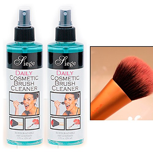 Price comparison product image 2 Bottles Cosmetic Brush Spray Cleaner Make Up Disinfectant 8 Oz Liquid Cleanser