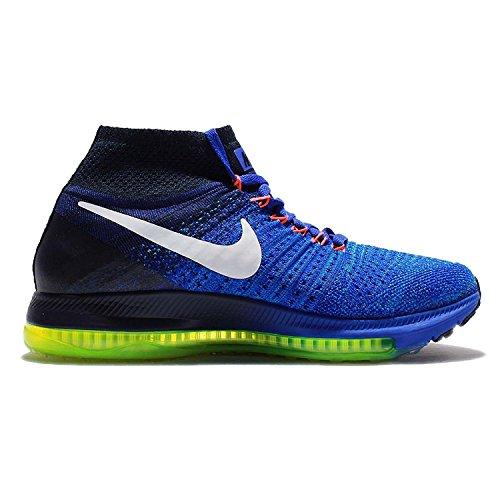 Nike Frauen Zoom All Out Flyknit Laufschuhe Racer Blau / Obsidian / Blau Glow / Weiß