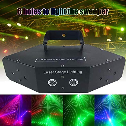 Majome 6 Lens Scan Light Line Beam Scans DMX DJ Effects Dance Bar Coffee Xmas Home Decor New