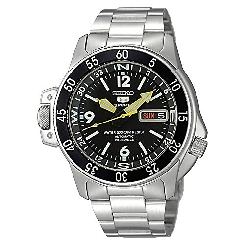 (Seiko Men's SKZ211K1 Five Sports Stainless Steel Automatic)