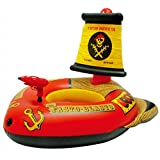 Pool Float Inflatable Water Gun Pirate Ship Swim Floaties Boat Squirter Toy Suitable Kids Outdoor Pool Party Beach Vacation Summer(127cm*124cm*72cm)