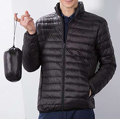 L Premium Black Puffer Down Packable Coat EKU US Men's Weatherproof Jacket 5BwvA