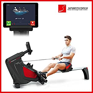 Sportstech RX500 Rudergerät mit Smartphone steuerbar - Fitness App mit...