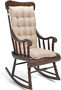 Trendcode Cushion Set for Rocking Chairs Non-Slip Chair Pad Seat:19x17x3 inches,Seat Back:22x17x3 inches