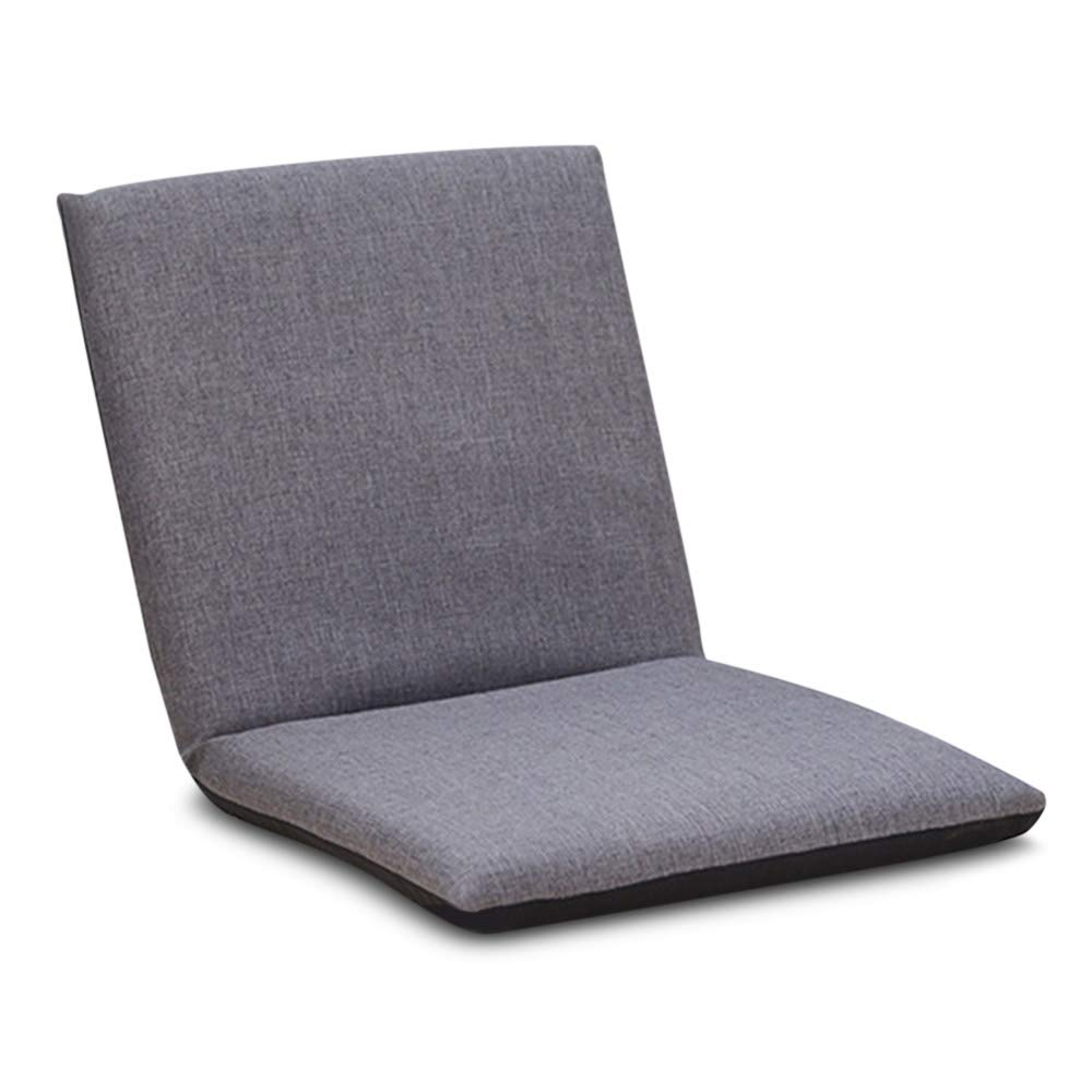 DBC Foldable Floor Chair Adjustable Relaxing Lazy Sofa Seat Cushion Lounger Padded Gaming Chair Detachable Comfortable for Kids Children Adults Suitable for Indoor Outdoor Using (Grey)