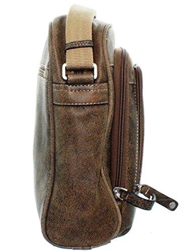 Arthur & aston - Sacoche Bandoulière Arthur et Aston en cuir vachette ref_ast35170-b-marron