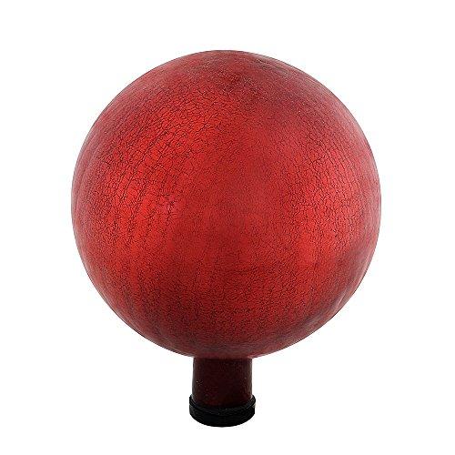 Achla Designs G10-RD-C Gazing, Red 10 inch Glass Garden Globe Ball Sphere, ()