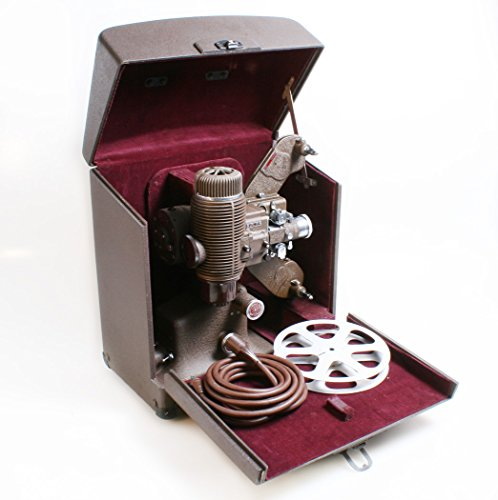 - ART DECO 8MM MOVIE PROJECTOR W/CASE/REEL FOR DISPLAY
