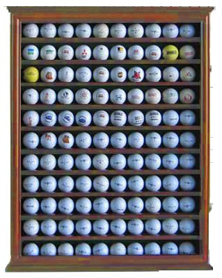 110 Golf Ball Display Case Wall Cabinet Holder, UV for sale  Delivered anywhere in USA