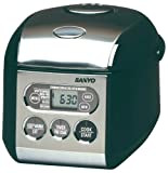 Sanyo ECJ-S35K 3-1/2-Cup (Uncooked) Micro-Computerized Rice Cooker/Warmer with Bread-Baking Function, Black