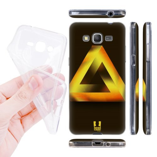 Head Case Designs Gold Penrose Triangle Soft Gel Back Case Cover for Samsung Galaxy Grand Prime 3G 4G Duos LTE G530