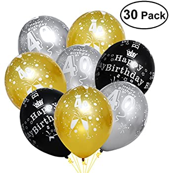 amazon com unomor 40th birthday decorations with 40th birthday