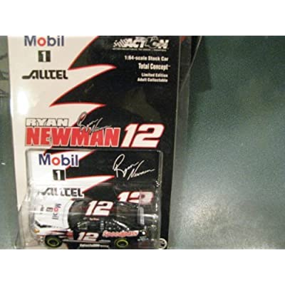 2002 Rookie Year Ryan Newman #12 Mobil 1 Alltel Speedpass Taurus 1/64 Scale Hood Opens Action Racing Collectables ARC Limited Edition Yellow Rookie Stripes: Toys & Games