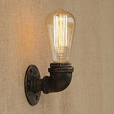 BAYCHEER HL424110 Industrial Retro Vintage style Up and Down Lighting Simple Mini Water Pipe Wall Lighting lamp wall sconce use E26/27 Bulb
