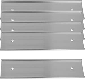 """2"""" x 8"""" Aluminum Wall Mounted Name Plate Holder - Set of 5 - Office Business Door Sign Holder - Wall or Door - Silver"""