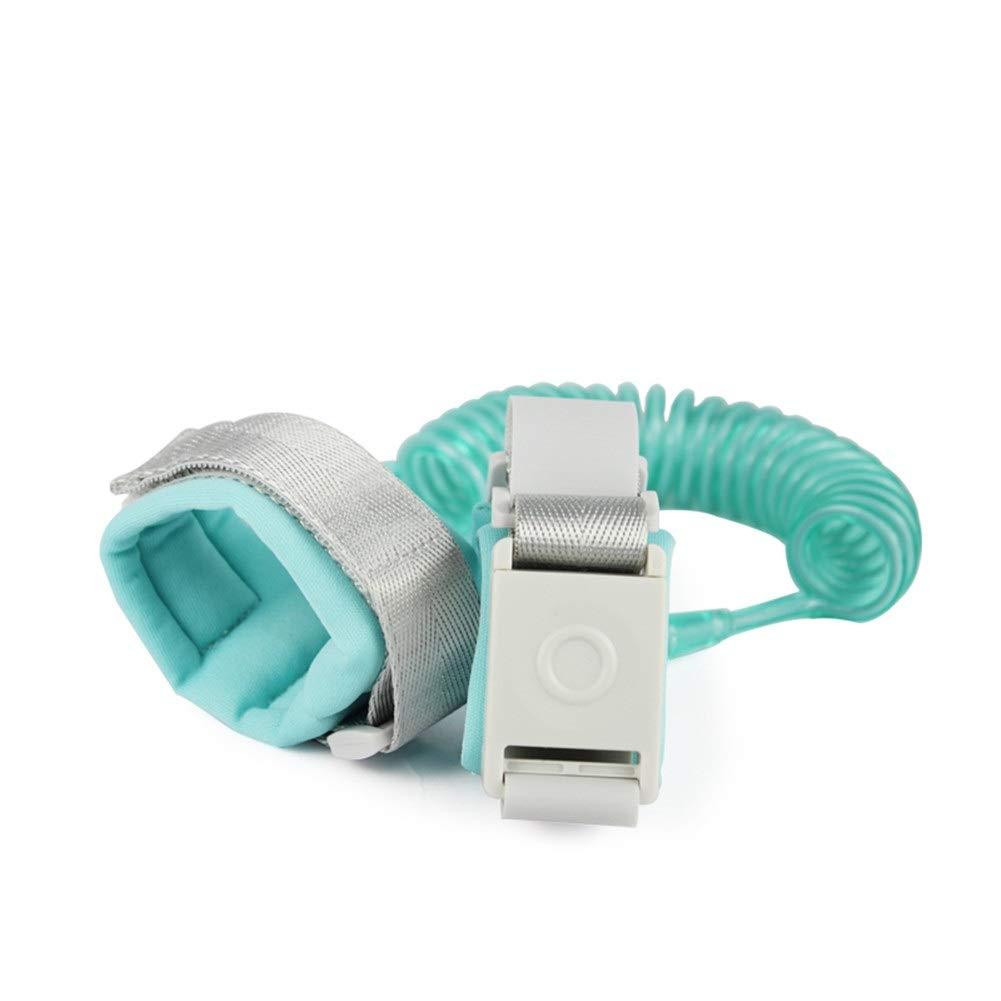 Baby Anti-verloren Wristband, 2 Meter Baby Kinder Sicherheit Anti-verlorene Gerät Kind Schutzhülle Handschlaufe - Light Blue/Dark Blue/Pink/Orange (Color : Light Blue)