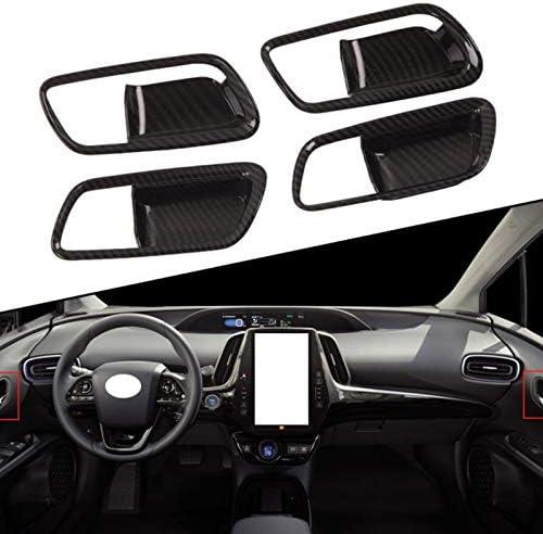 Monland para Prius 2019 2020 Manija de la Puerta Interior de Fibra de Carbono Tapa Tapa del Ret/éN Adornos Decoraci/óN del Marco Accesorios Interiores