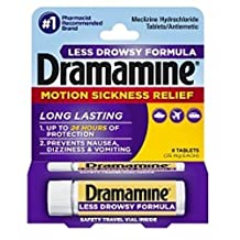 Dramamine Motion Sickness Relief Less Drowsey Formula Tablets 8 ea by Dramamine