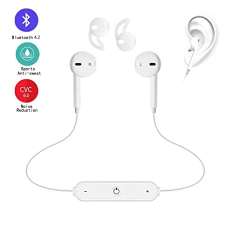 Auriculares Bluetooth 4.2 Sin Cable, Cascos Mini Deportivos Inalámbricos Runing con Mic In-Ear