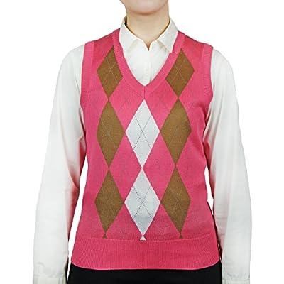 Blue Ocean Ladies Argyle Sweater Vest at Women's Clothing store