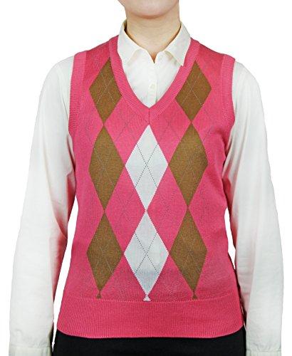 Blue Ocean Ladies Argyle Sweater Vest-X-Large by Blue Ocean