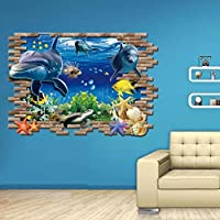 Hatop Kid Room Sea Whale Fish 3D Wall Stickers For Kids...