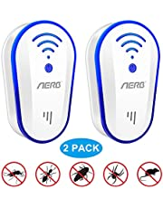 [2019 Upgraded ] Ultrasonic Pest Repeller, Aerb 10W Plug-in Insect Repeller, 2 Pack Electronic Portable Pet Safe Device-Repels Away Fleas, Bugs,Mosquito, Mice, Insect, Ants, Spiders, Rat & More