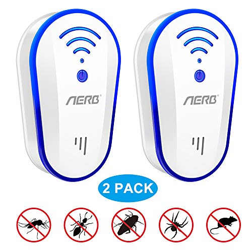 [2019 Upgraded ] Ultrasonic Pest Repeller, Aerb 10W Plug-in Insect Repeller, 2...