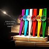 Petift Set of 6 Colors Metal Kazoo Musical