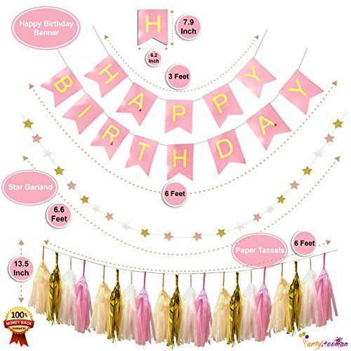 PartyHooman First Birthday Decorations Girl