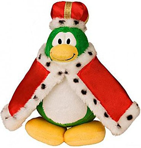 Disney Club Penguin 6.5 Inch Series 2 Plush Figure King (Includes Coin with Code!) by Jakks Pacific