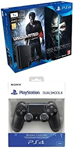PlayStation 4 Slim (PS4) 1TB - Consola + Uncharted 4 + Dishonored ...