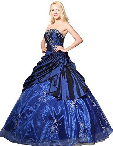 f2325070cea ... Sarahbridal Damen Ballon Lang Quinceanera Ballkleider offizielle  Abendkleider mit Perlen und Pailletten SSD112 Marineblau FsC5AYWia ...