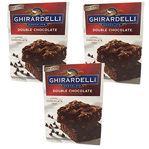 Ghirardelli Chocolate Lovers Double Chocolate Brownie Mix - Pack of 3, 18oz boxes