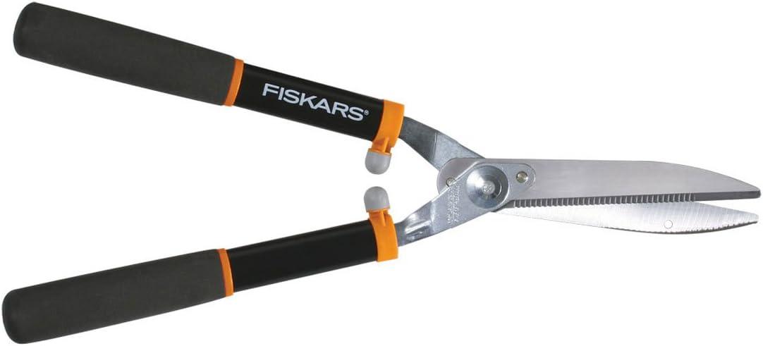 Fiskars 391911-1002 Power Lever 8-Inch Hedge Shears With Soft Grip Handle Black/Orange : Garden & Outdoor