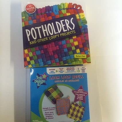 Amazoncom Klutz Potholders Other Loopy Projects Book Loom And