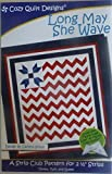 """Pattern~Long May She Wave~Patriotic~2 1/2"""" Strips"""