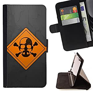 DEVIL CASE - FOR Samsung Galaxy S6 - Meth Cook Warning - Style PU Leather Case Wallet Flip Stand Flap Closure Cover