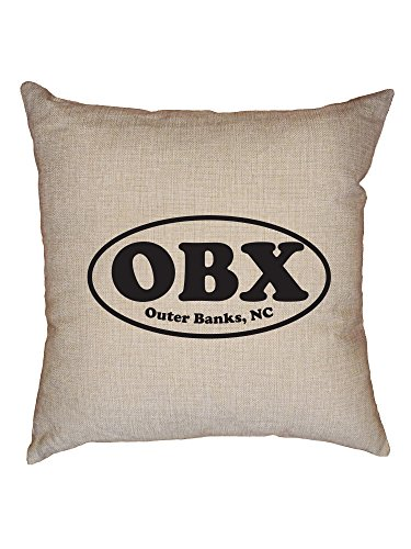 Hollywood Thread OBX - Outer Banks - NC North Carolina Classic Oval Decorative Linen Throw Cushion Pillow Case with - Sofa Classic North Carolina