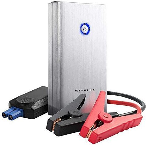 High Output Jump Starter 2 USB Ports for Fast Charging of Mobile Devices 8000mAh High Capacity Power Bank 3 Mode Flashlight