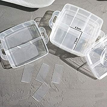 Free Letter Stickers 4 PCS x 15 Grid Snowkingdom Plastic Grid Box Storage Organizer Case for Display Collection with Adjustable Dividers