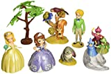 Sofia the First 13 Piece Birthday Cake Topper Set Featuring Sofia, Amber, James, Flora, Fauna, Merryweather, Clover the Rabbit, Squirrel and Birds, Sofia Castle Backdrop, Decorative Tree, Princess Tiara, and Decorative Sofia Character Cutouts